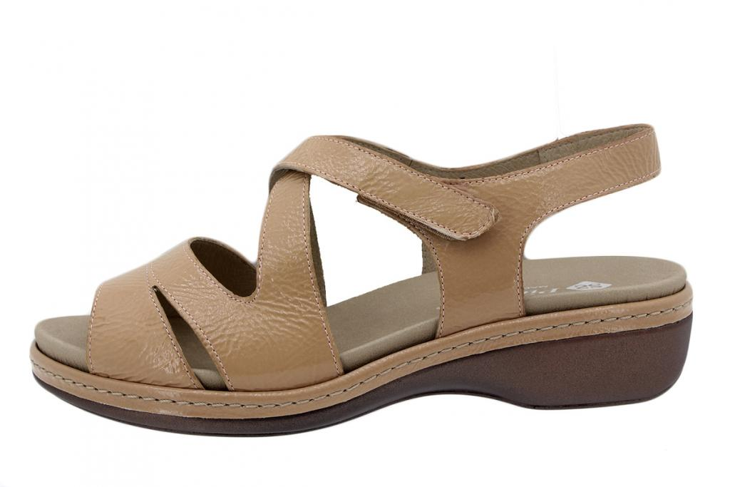 Removable Insole Sandal Patent Nude 200812
