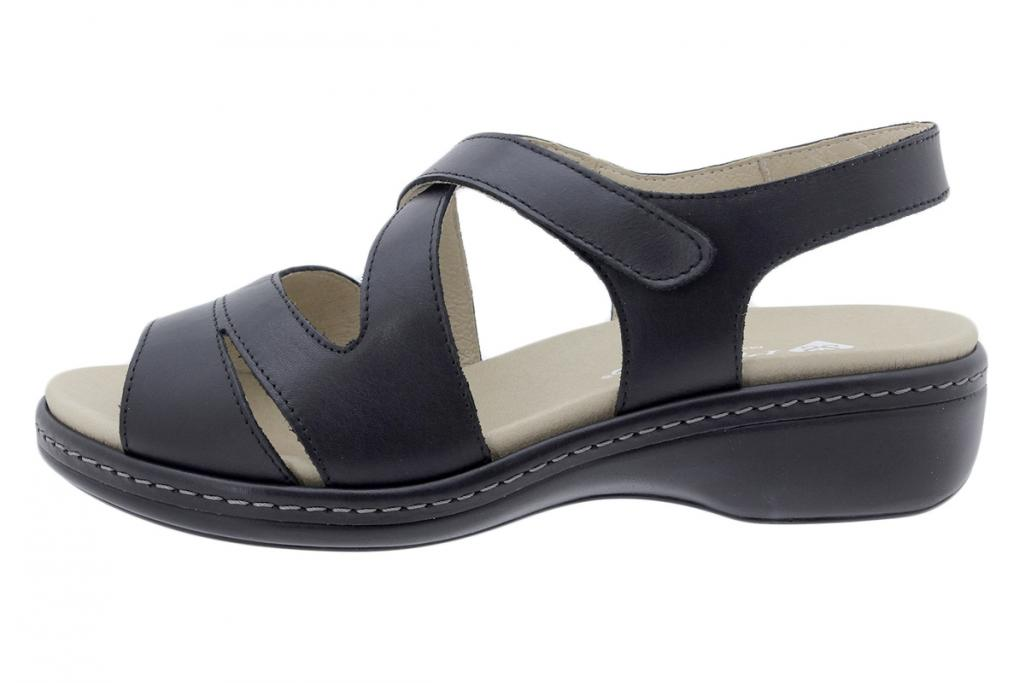 Removable Insole Sandal Black Leather 200812