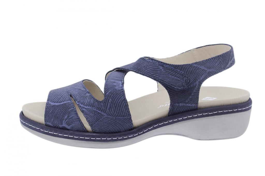 Removable Insole Sandal Blue Leather 200812
