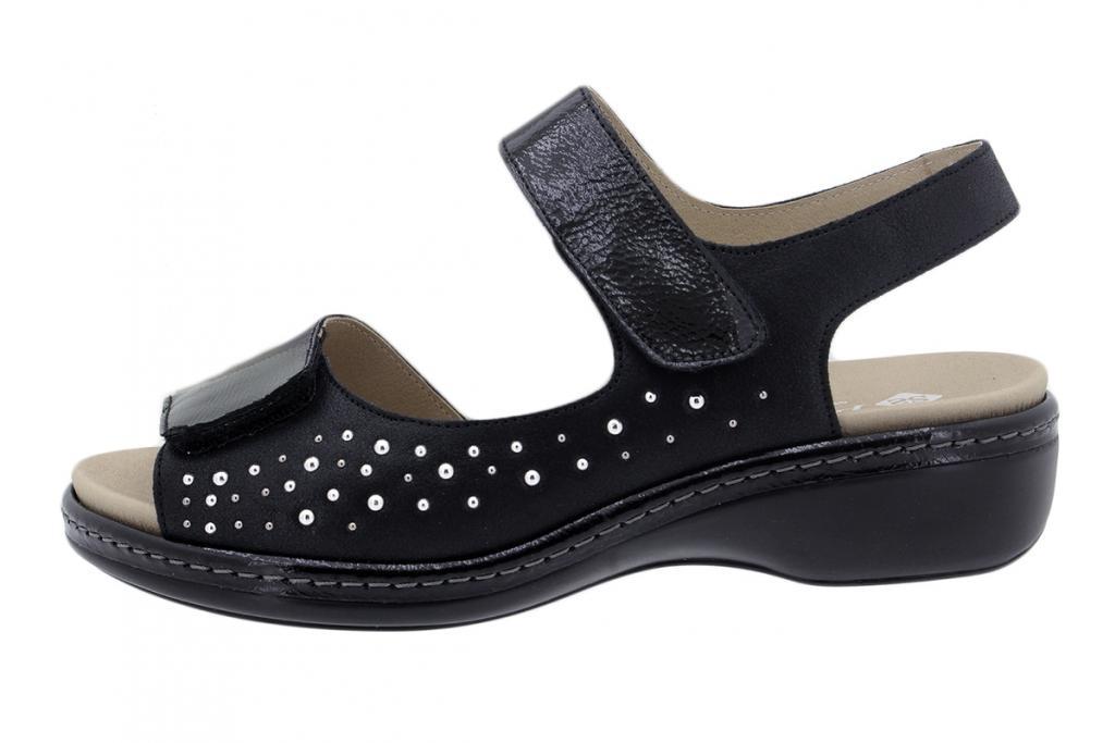 Removable Insole Sandal Patent Black 200817