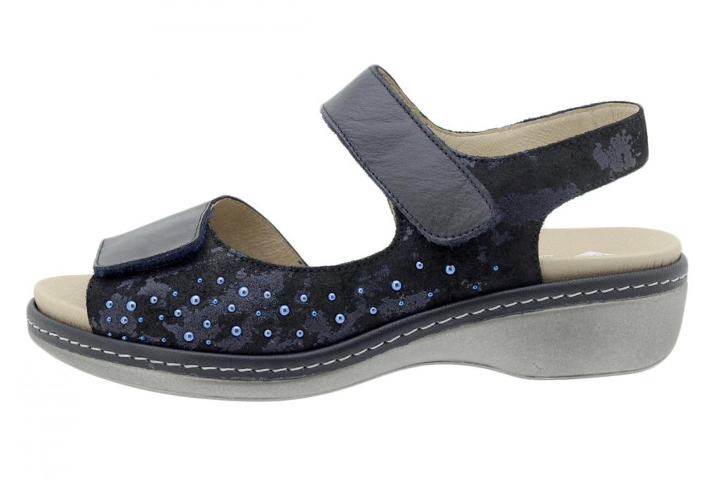 Removable Insole Sandal Blue Leather 200817