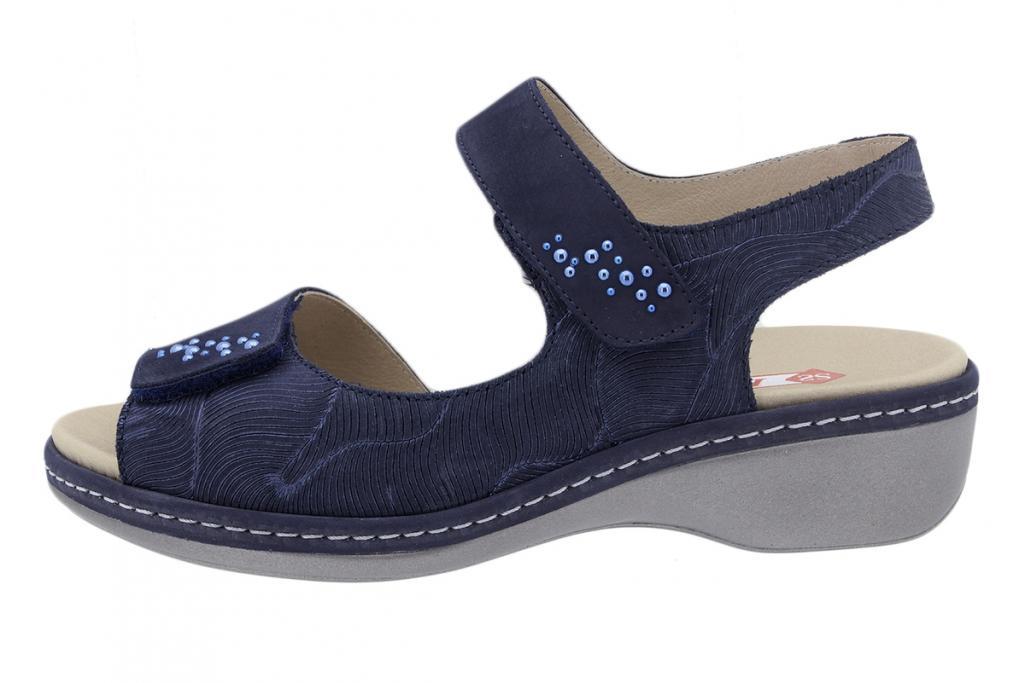 Removable Insole Sandal Nubuck Blue 200818