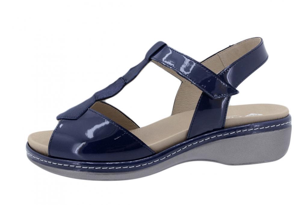 Removable Insole Sandal Patent Blue 200821