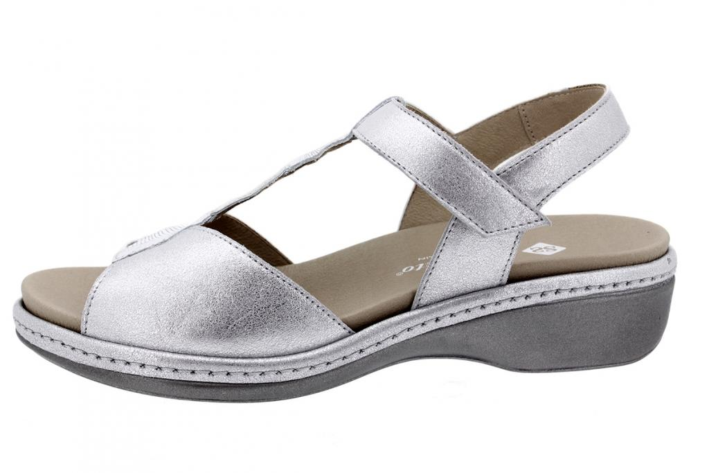 Removable Insole Sandal Pearl Metal Suede 200821