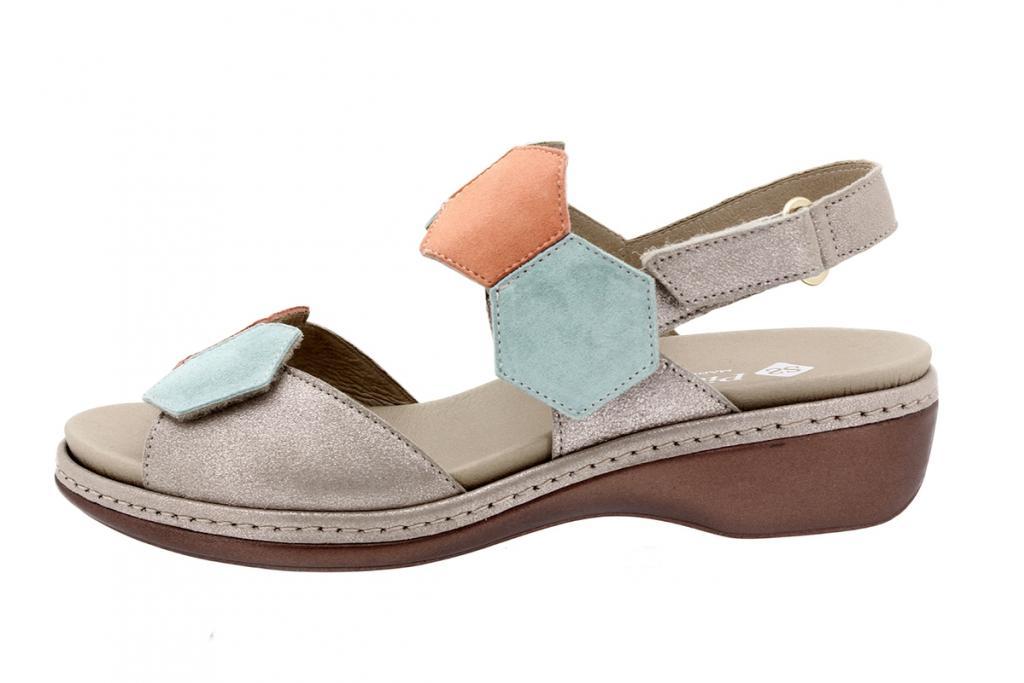 Removable Insole Sandal Mink Metal Suede 200822