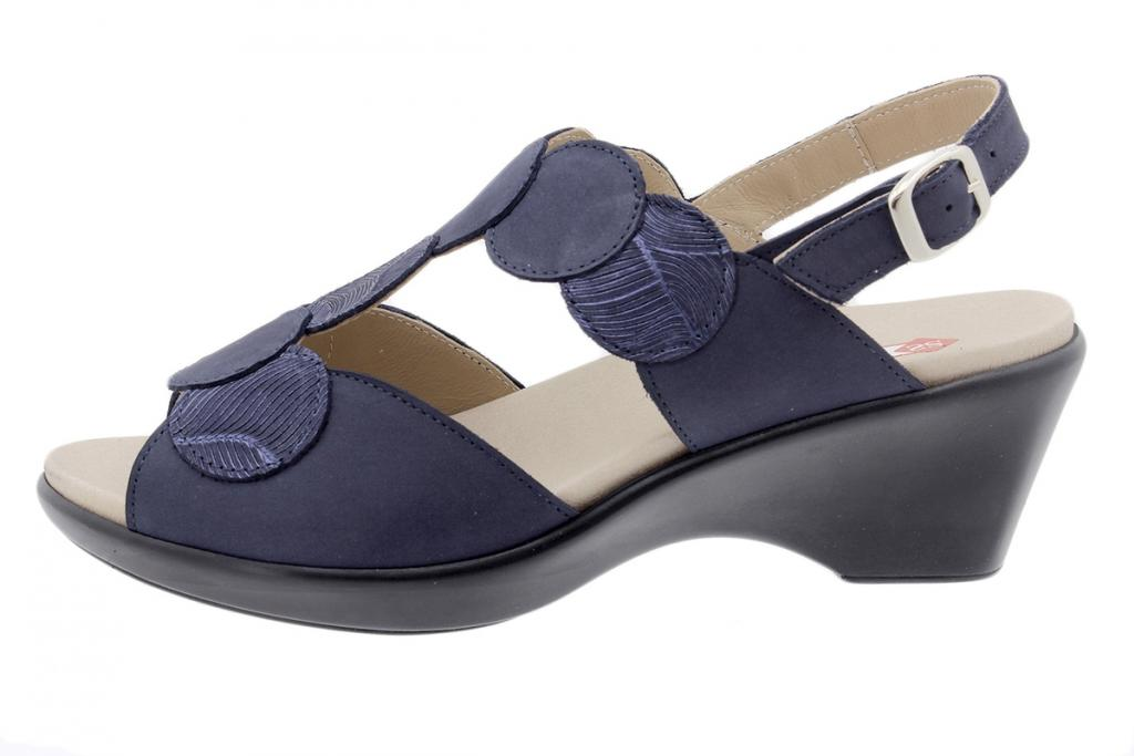 Removable Insole Sandal Blue Nubuck 200853