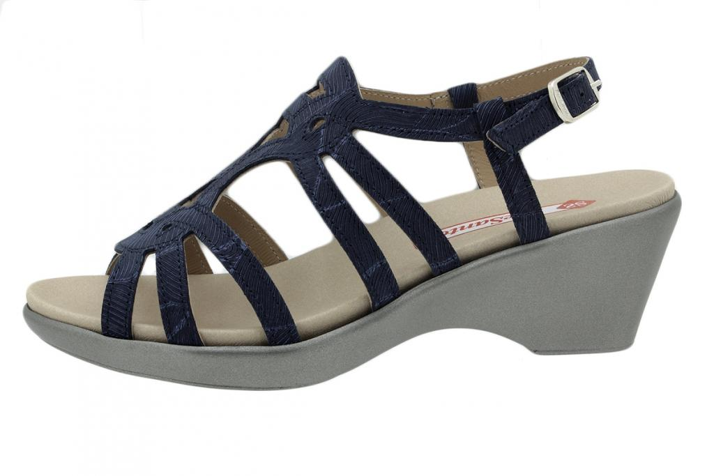 Removable Insole Sandal Blue Leather 200859