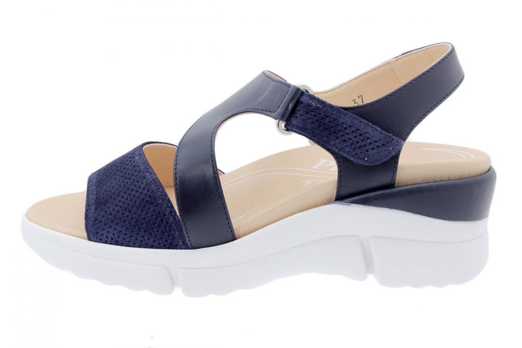 Removable Insole Sandal Blue Suede 200878