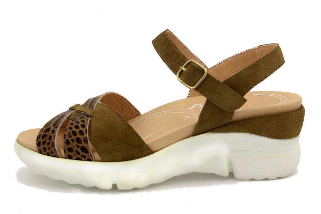 Removable Insole Sandal Tan Suede 200879