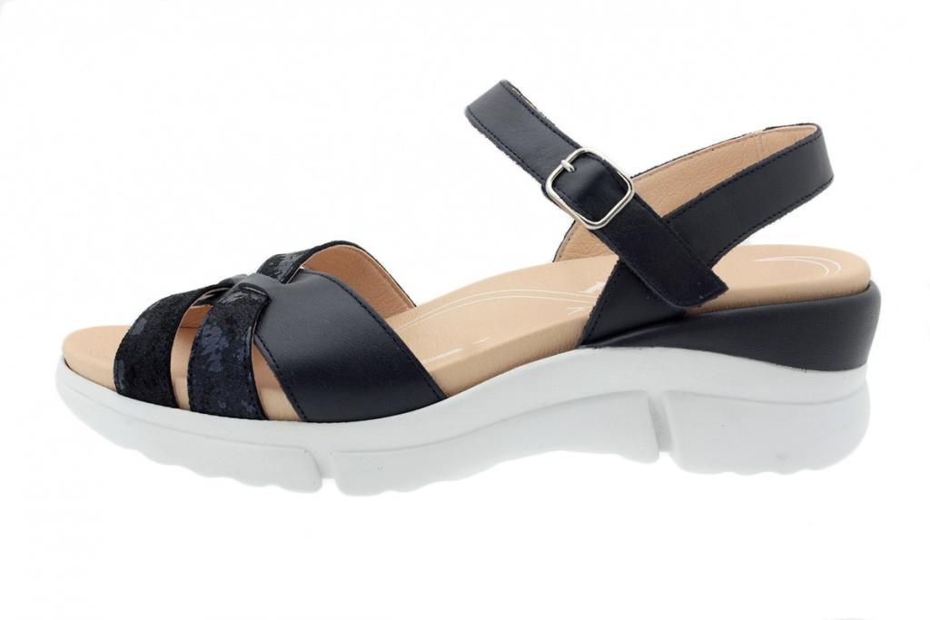 Removable Insole Sandal Blue Leather 200879