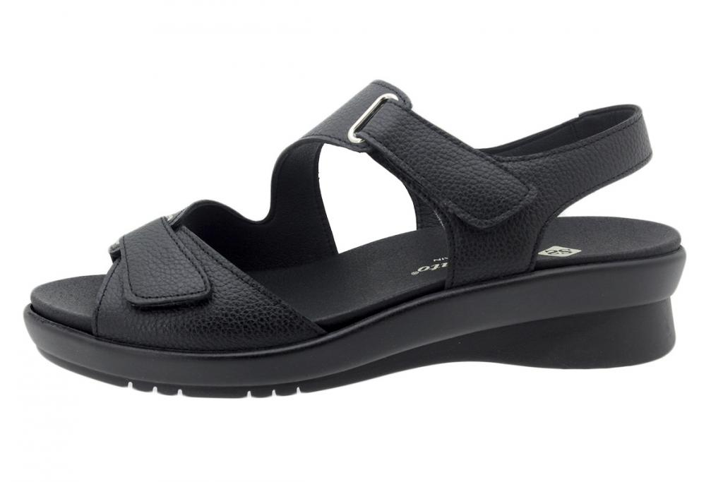 Removable Insole Sandal Black Leather 200891