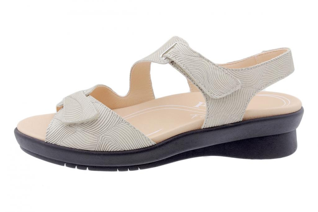 Removable Insole Sandal Beige Leather 200891