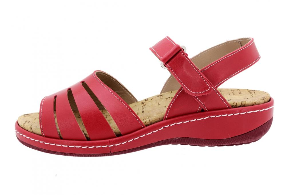 Removable Insole Sandal Red Leather 200901