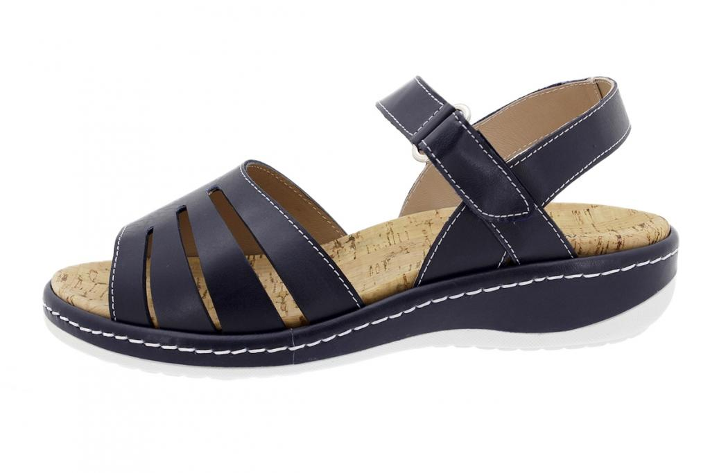 Removable Insole Sandal Blue Leather 200901