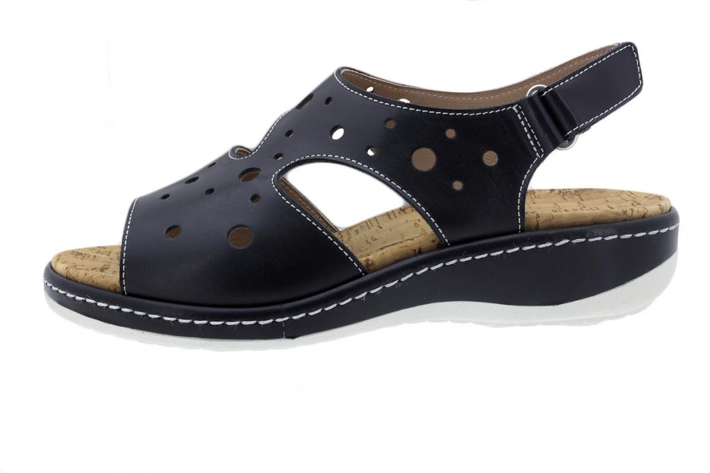 Removable Insole Sandal Black Leather 200907