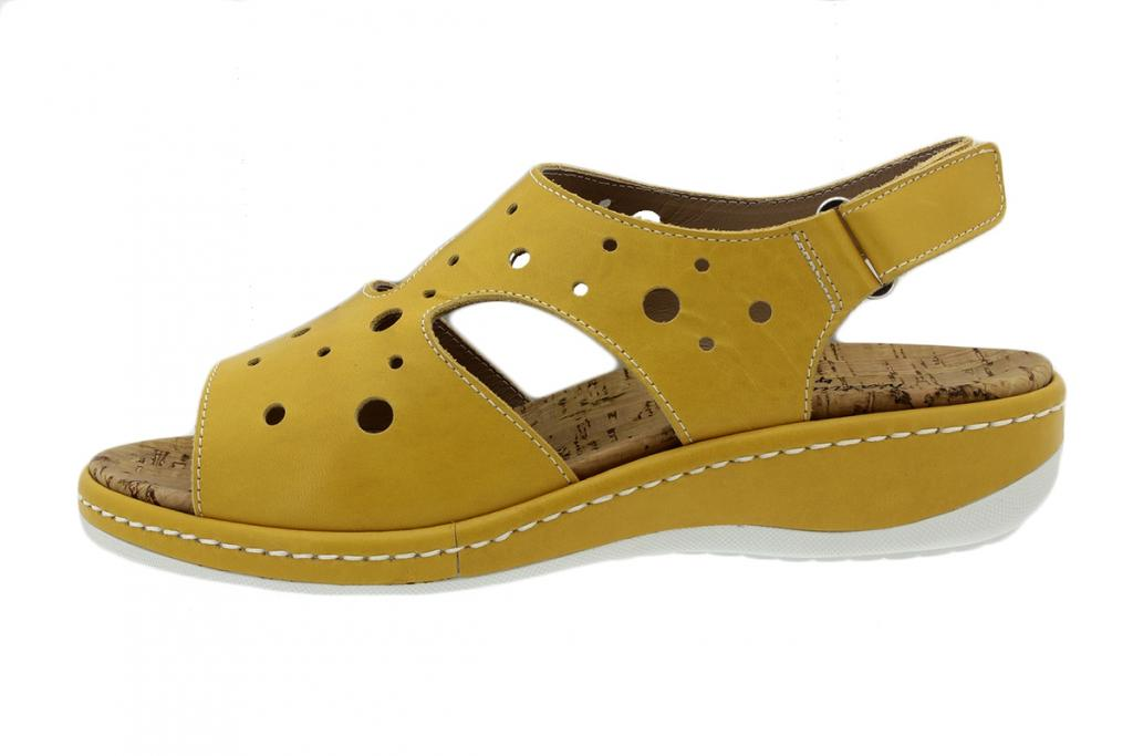 Removable Insole Sandal Yellow Leather 200907