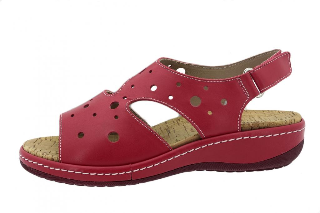 Removable Insole Sandal Red Leather 200907