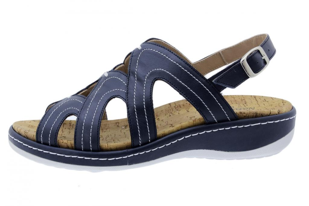 Removable Insole Sandal Blue Leather 200908