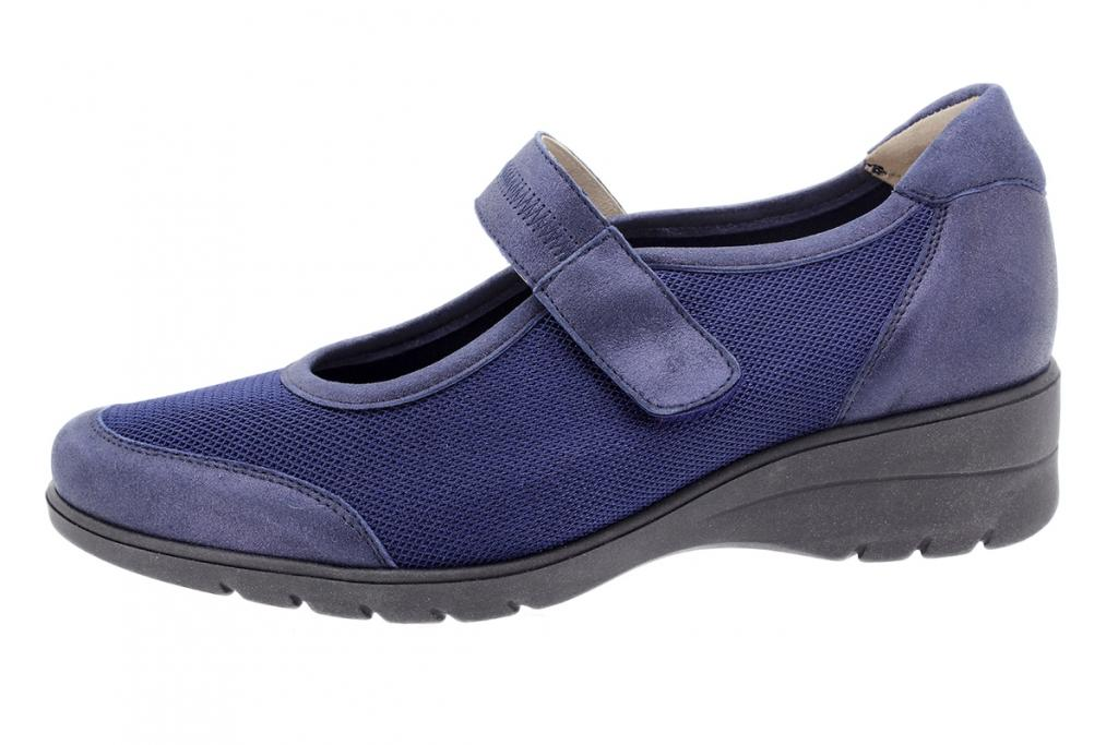 Mary-Jane Blue Metal Suede 200960