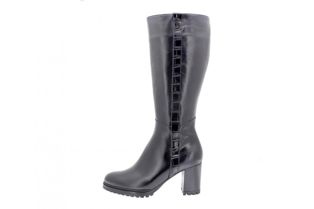 Boot Black Leather 205437 L