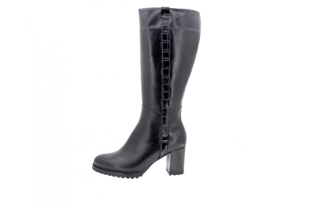 Boot Black Leather 205439 XL