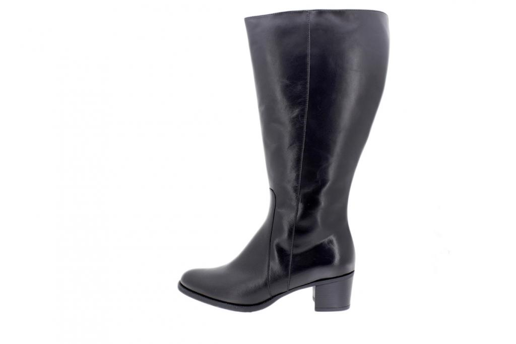 Boot Black Leather 205452 2XL