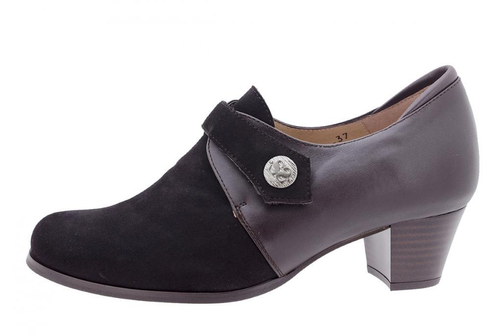 Velcro shoe Brown Suede 205462