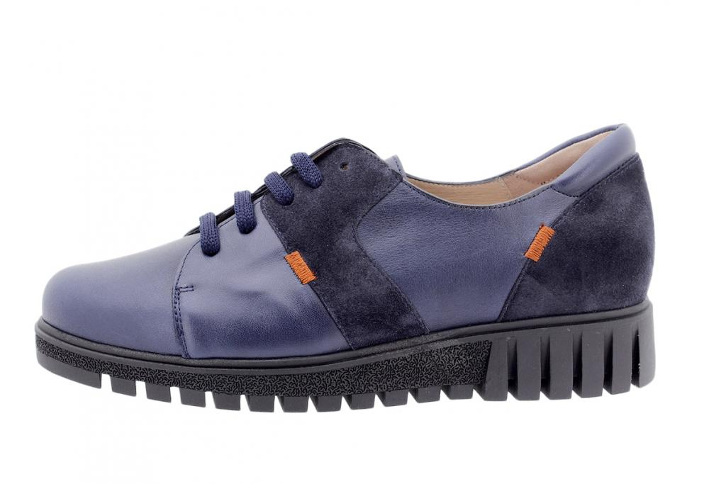 Tie shoe Blue Leather 205701