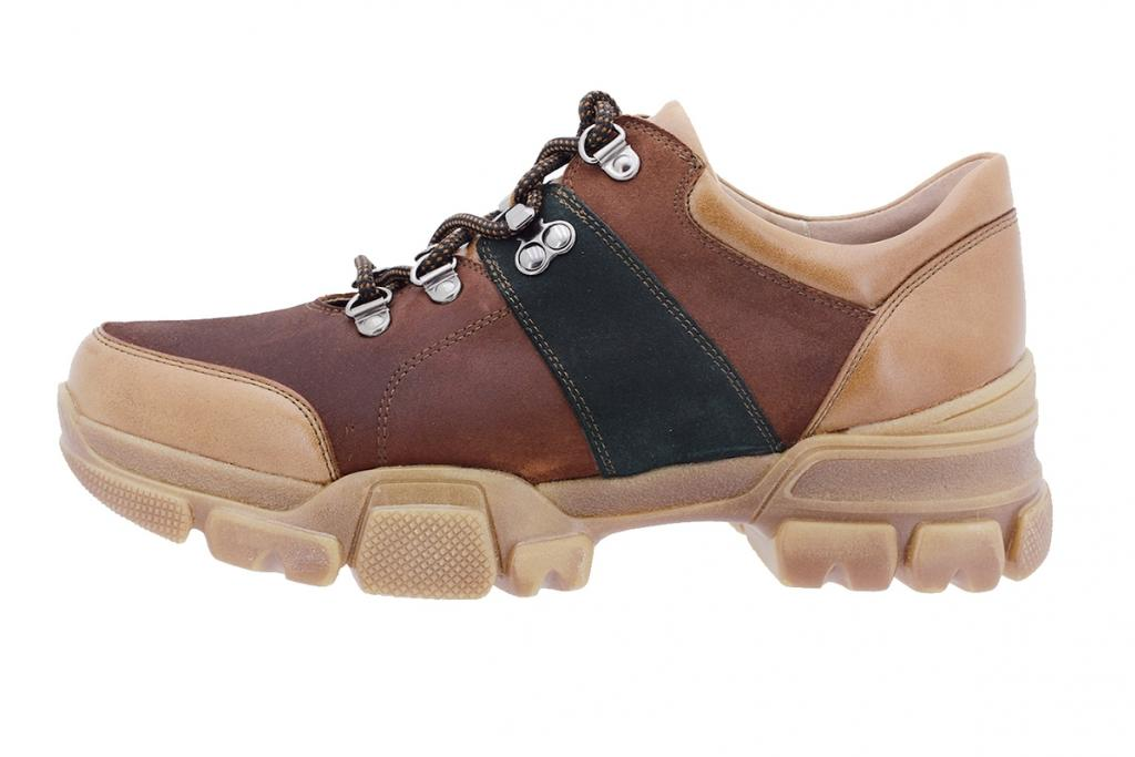 Lace-up shoe Tan Leather 205721