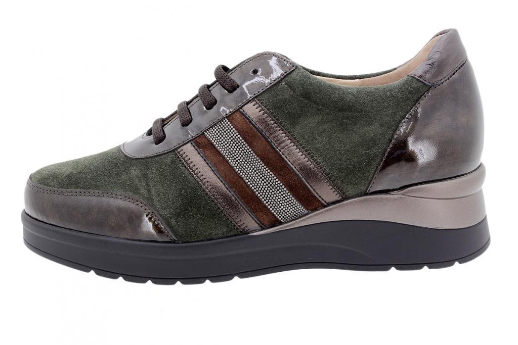 Tie shoe Taupe Patent 205751