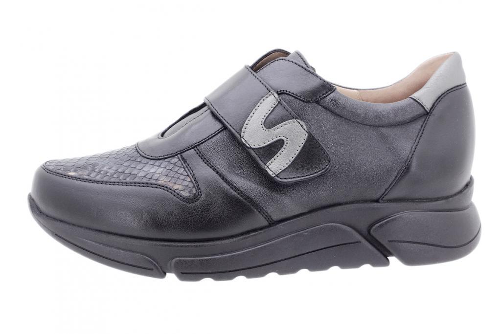 Sneaker Black Leather 205765