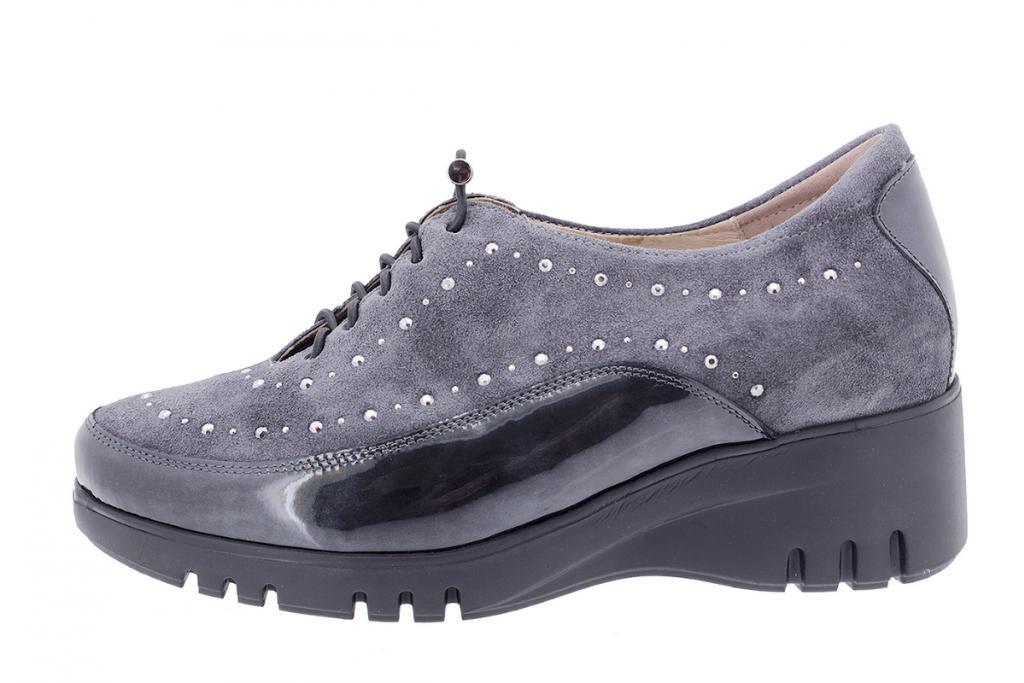 Lace-up shoe Grey Patent 205924