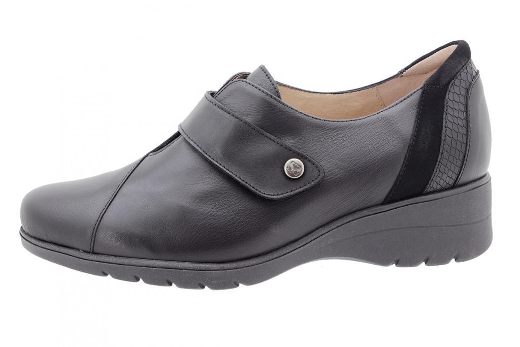 Velcro shoe Black Leather 205952