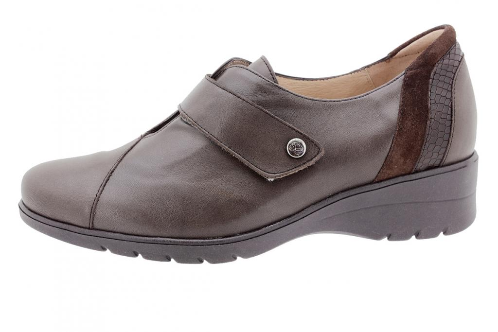 Velcro shoe Brown Leather 205952