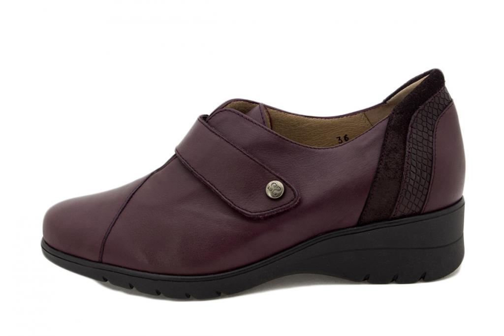 Velcro shoe Bordeaux Leather 205952