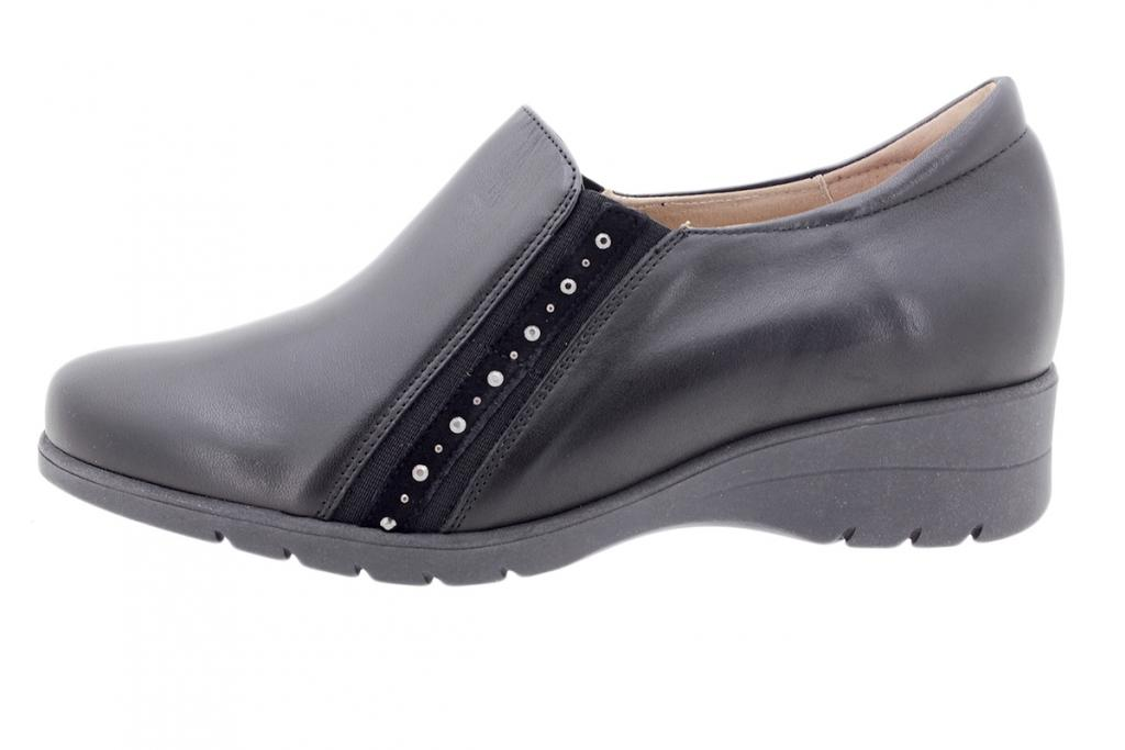 Bootee shoe Black Leather 205958