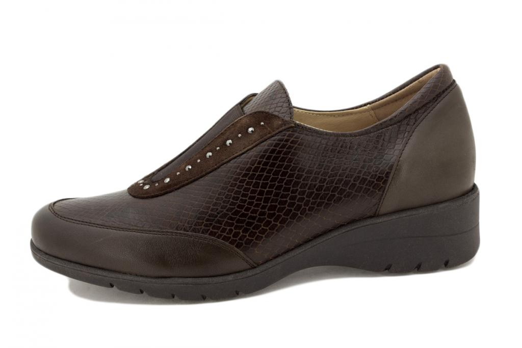 Elastic Fitting Brown Leather 205959