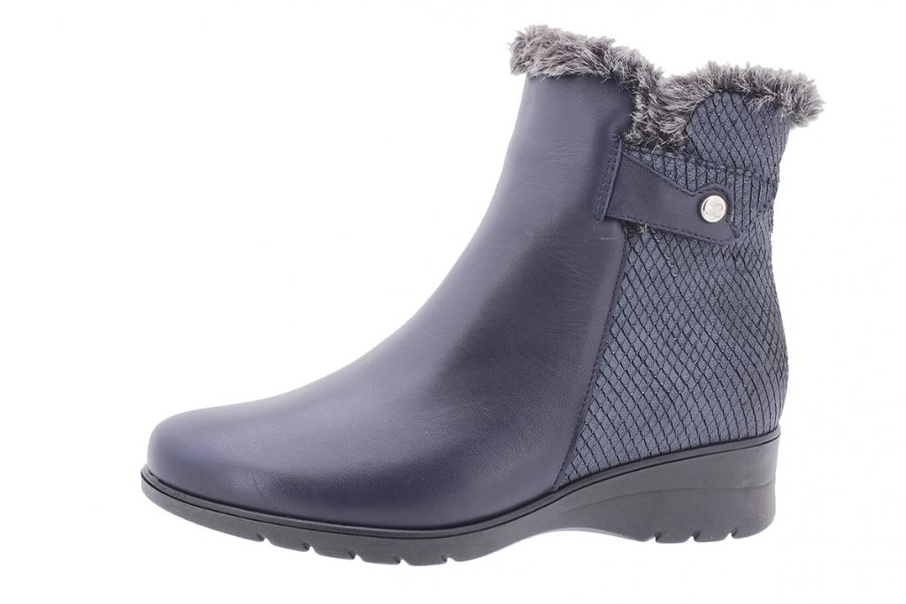 Ankle boot Blue Leather 205974
