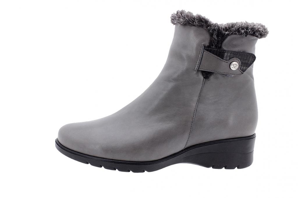 Ankle boot Grey Leather 205974