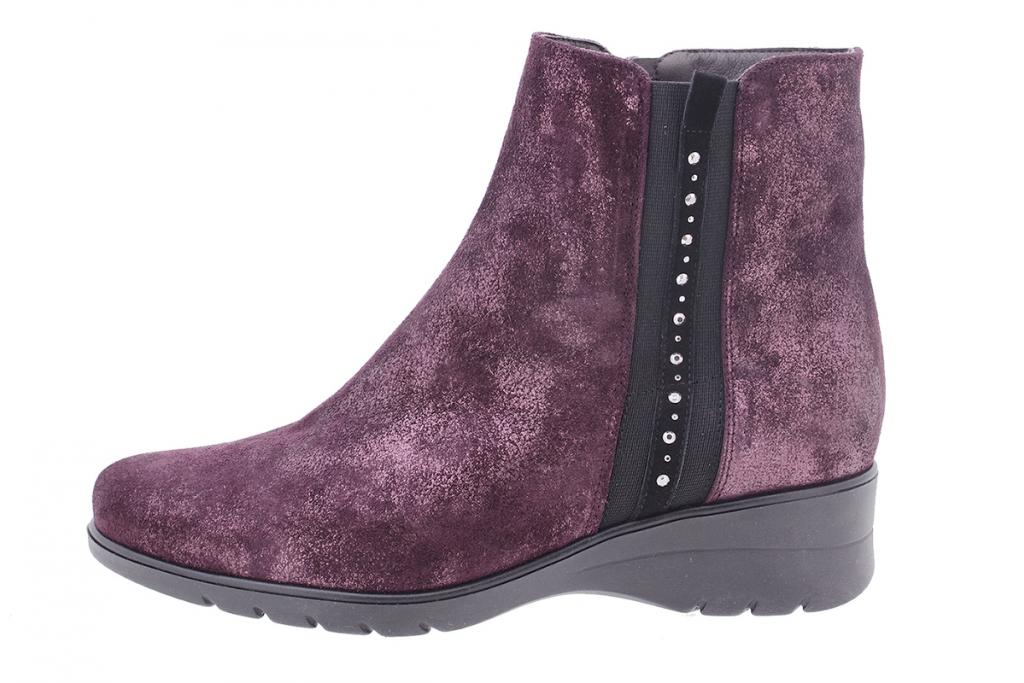 Ankle boot Bordeaux Metal Suede 205977