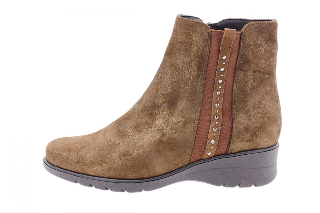 Ankle boot Brown Metal Suede 205977