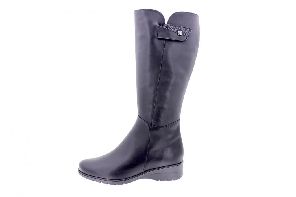 Boot Black Leather 205979 L