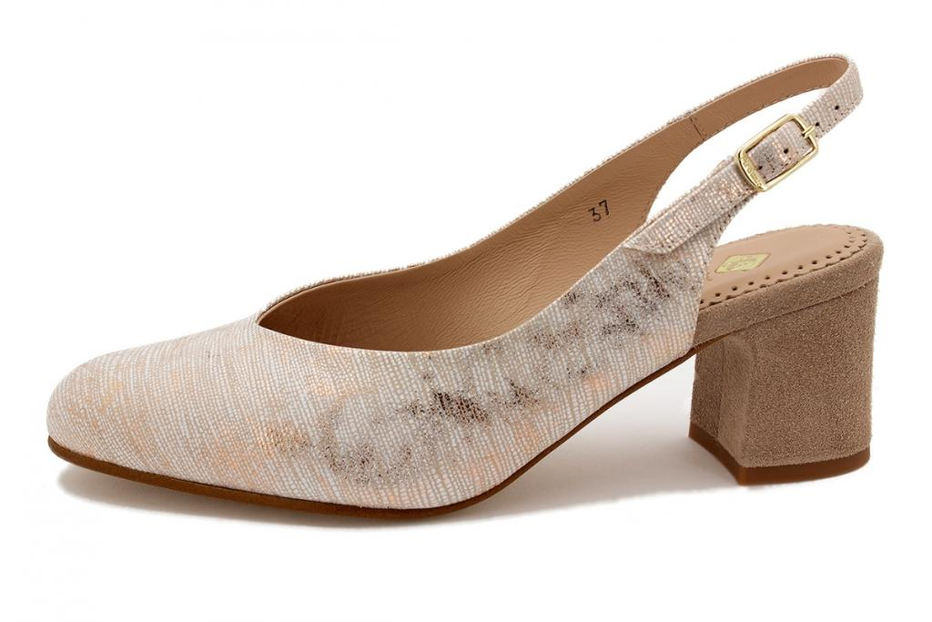Pump Nude Metal Suede 210230