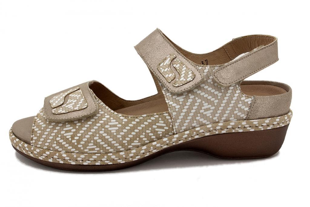 Removable Insole Sandal Mink Metal Suede 210402