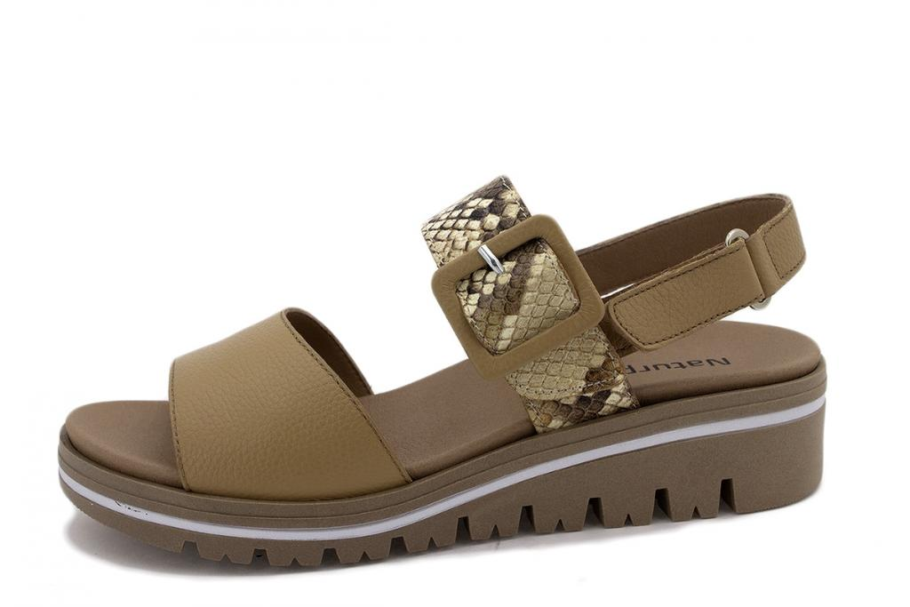 Removable Insole Sandal Tan Leather 210773