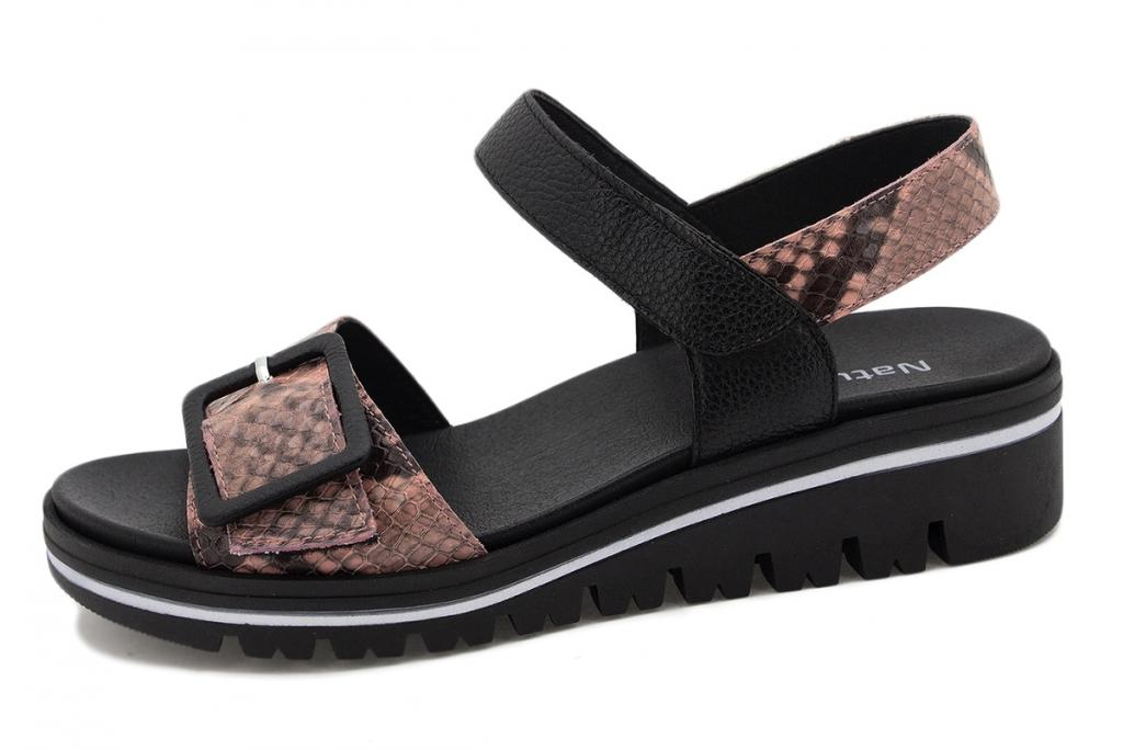 Removable Insole Sandal Nude Snake 210774