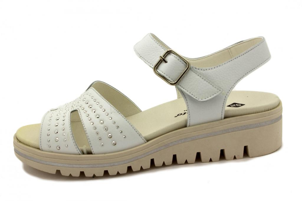 Removable Insole Sandal White Leather 210776
