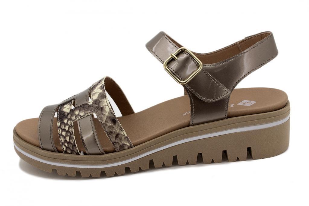 Removable Insole Sandal Mink Metal 210777