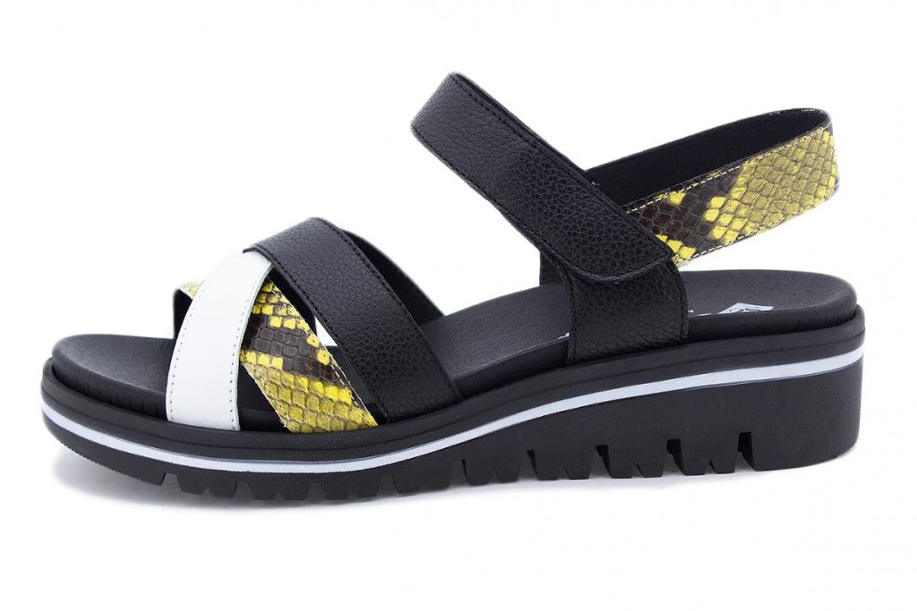 Removable Insole Sandal White Leather 210784