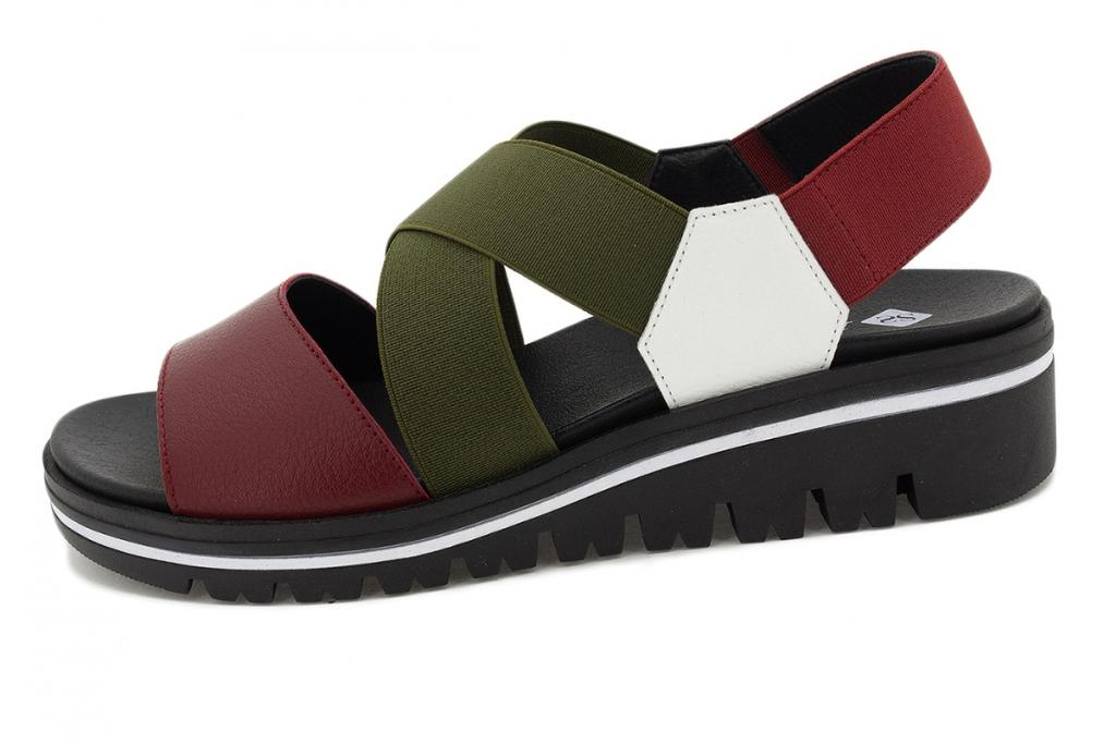 Removable Insole Sandal Red Leather 210787